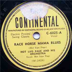 Hot Lips Page And His Orchestra - Race Horse Mama Blues / Corsicana mp3 flac